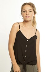 C/Meo Collective Black Button Up Cami